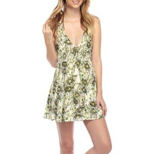 Free People floral racer back mini dress